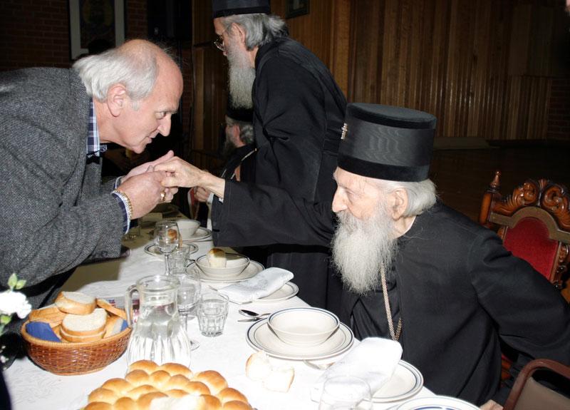 Ђорђе Маринковић са патријархом Павлом